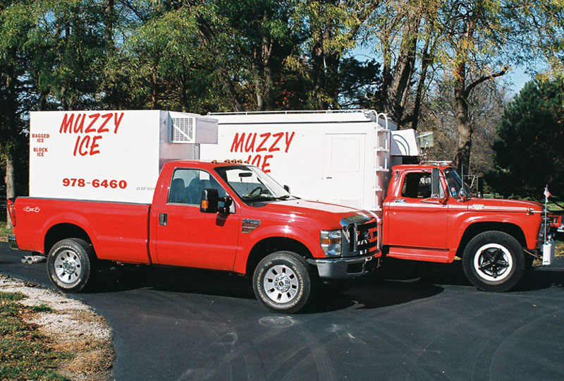 Muzzy Ice Service - Delivering clear premium quality ice in Omaha Nebraska.