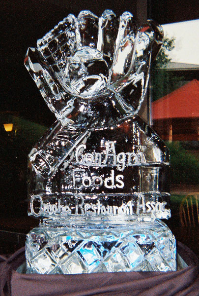 Ice sculpture for business special event.