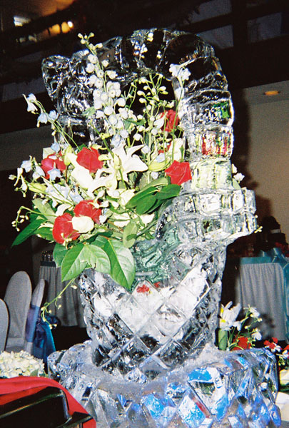 Ice carving - flower basket